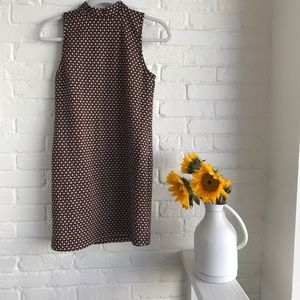 Abercrombie AF halter mini dress orange cream XS
